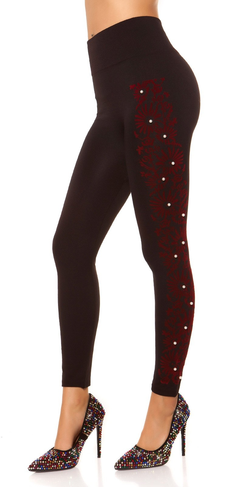 Sexy Thermo Shape High Waist Leggings Red
