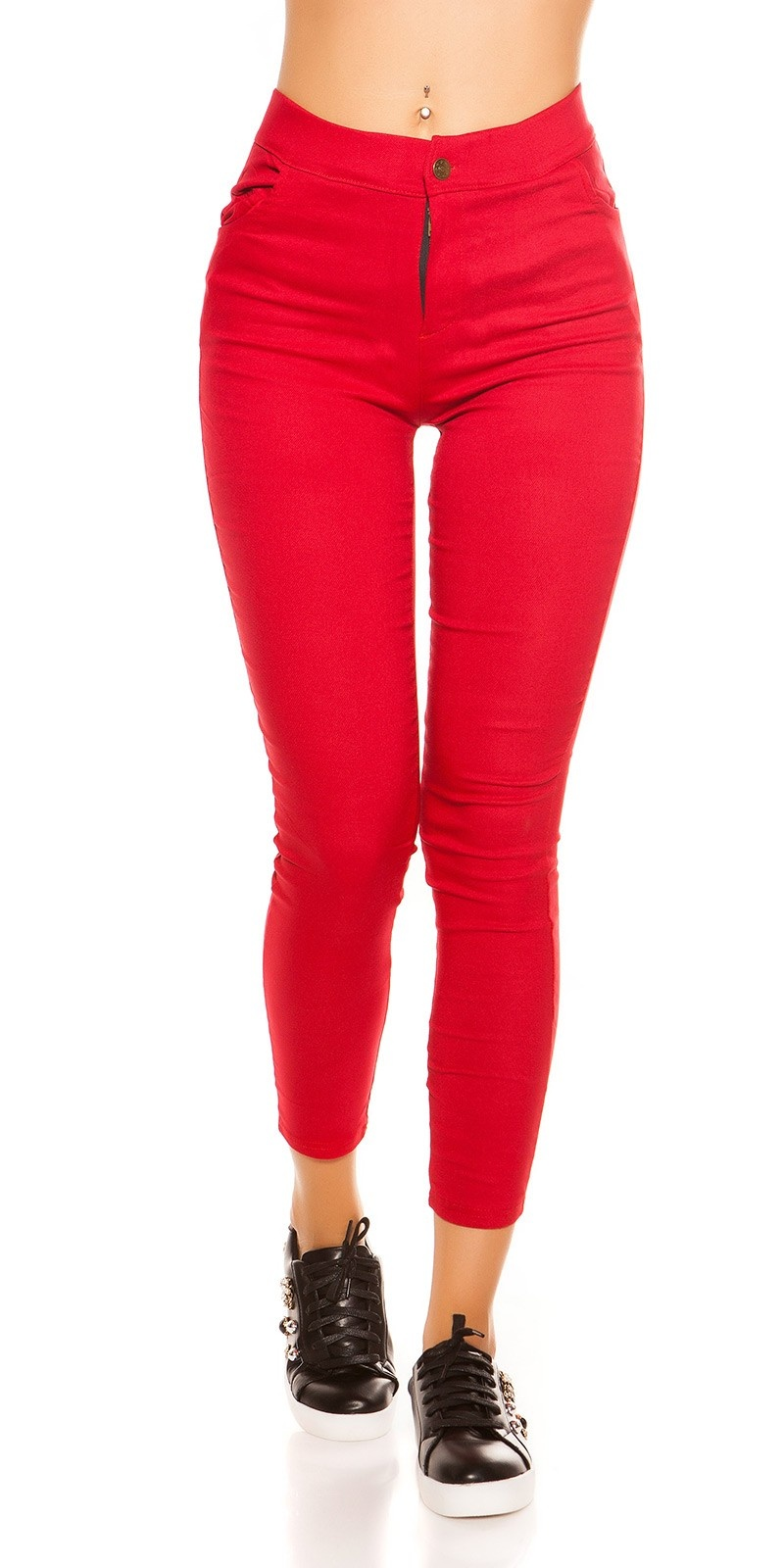 Sexy thermo treggings rood
