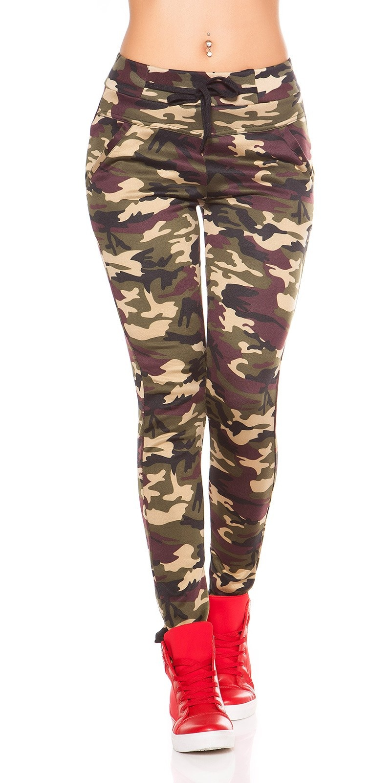Sexy leggings in camouflage beige