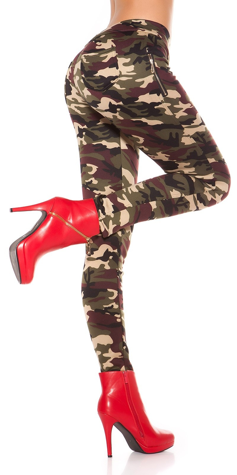 Sexy Leggings in Camouflage lined Beige