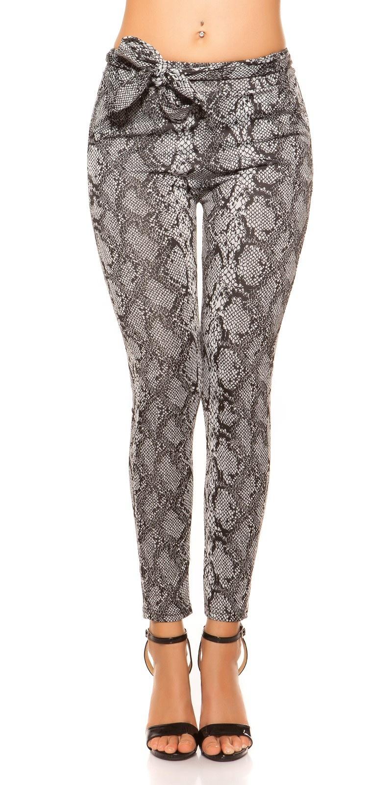 Trendy Loose Fit pants with loop Snake