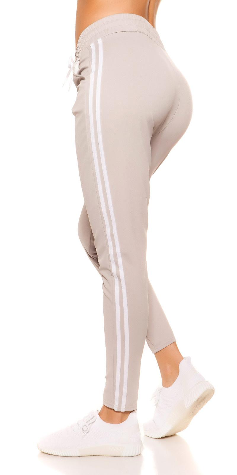 Trendy joggingbroek met strepen jaren 90 retro look grijs