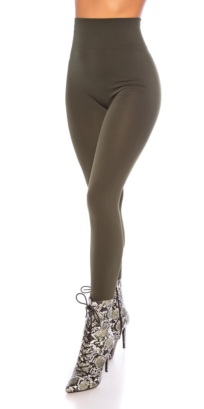 Sexy shaping leggings glossy khaki