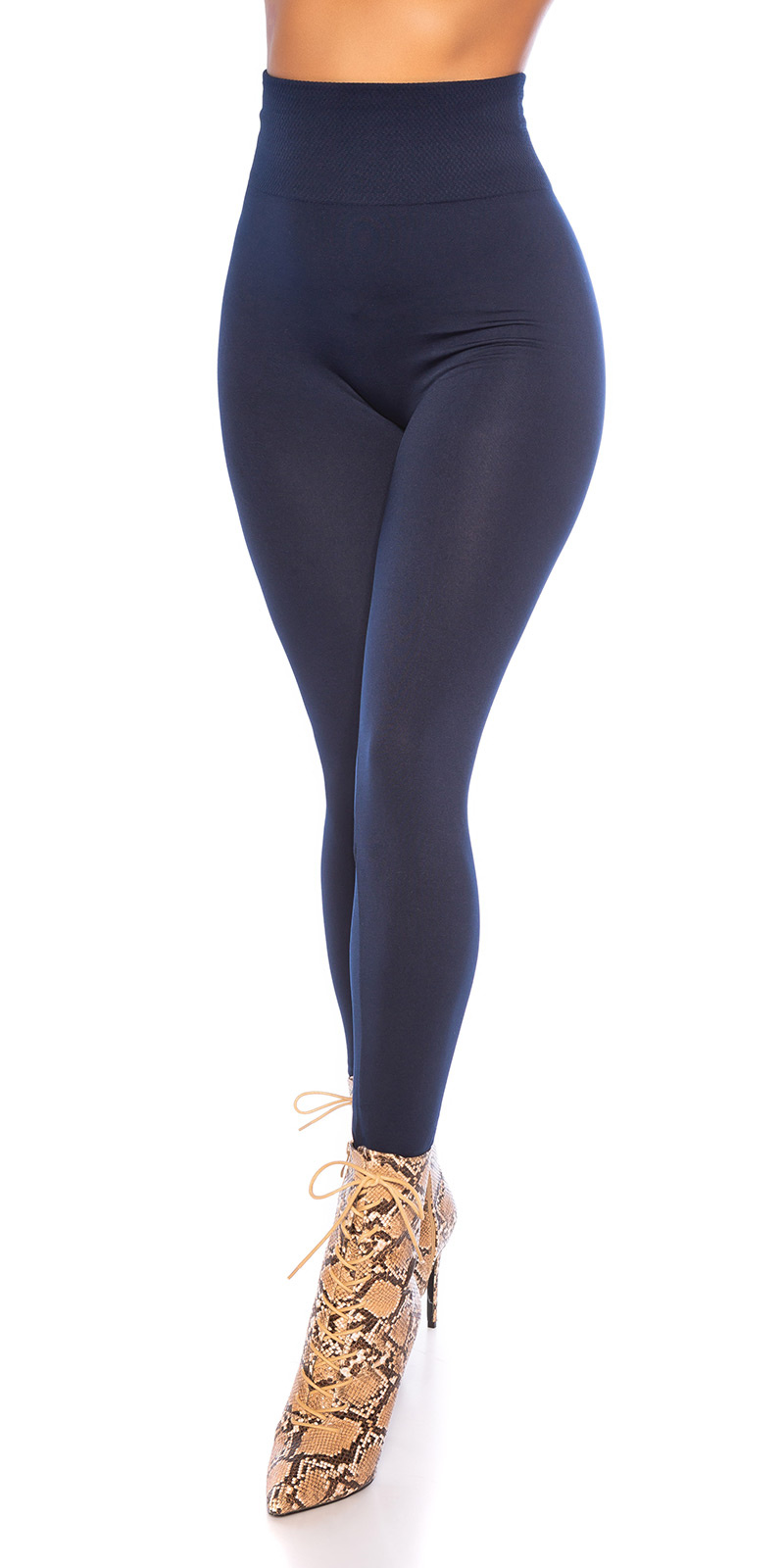 Sexy shaping leggings glossy marineblauw