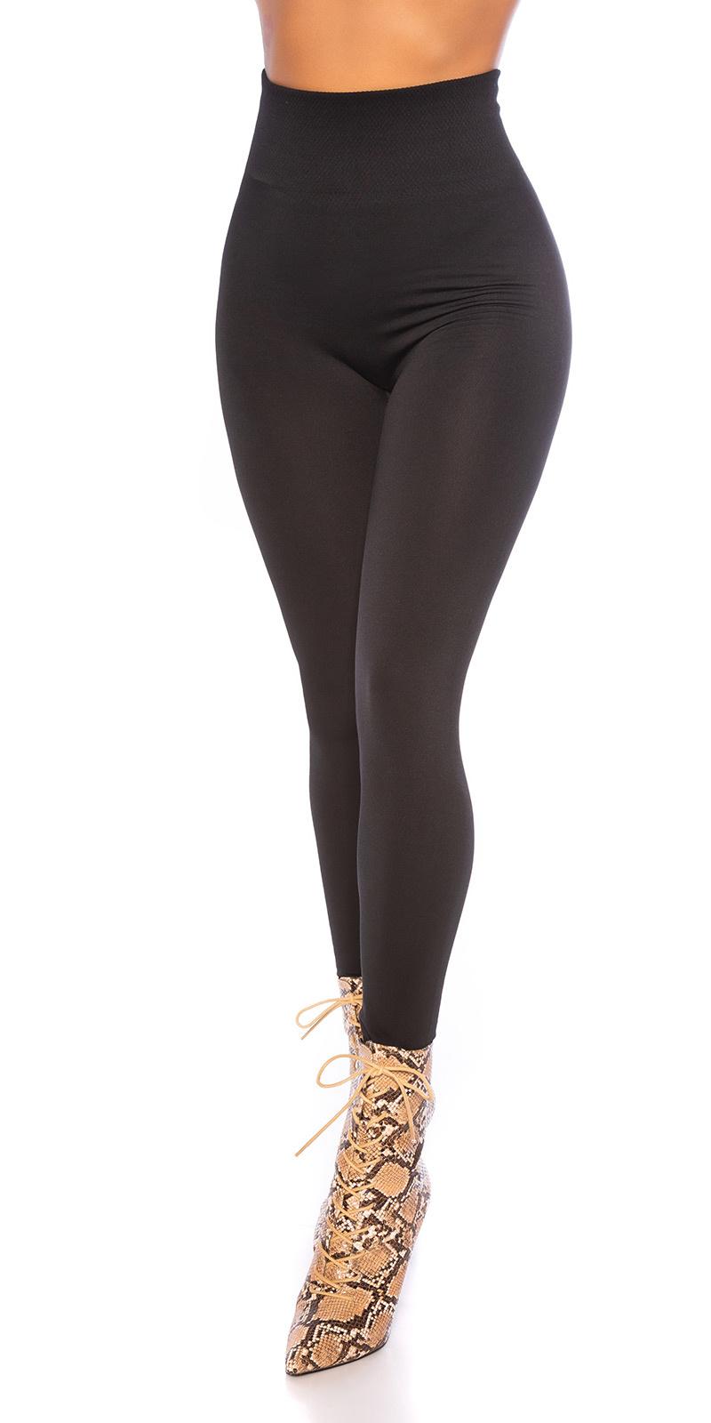 Sexy shaping leggings glossy zwart