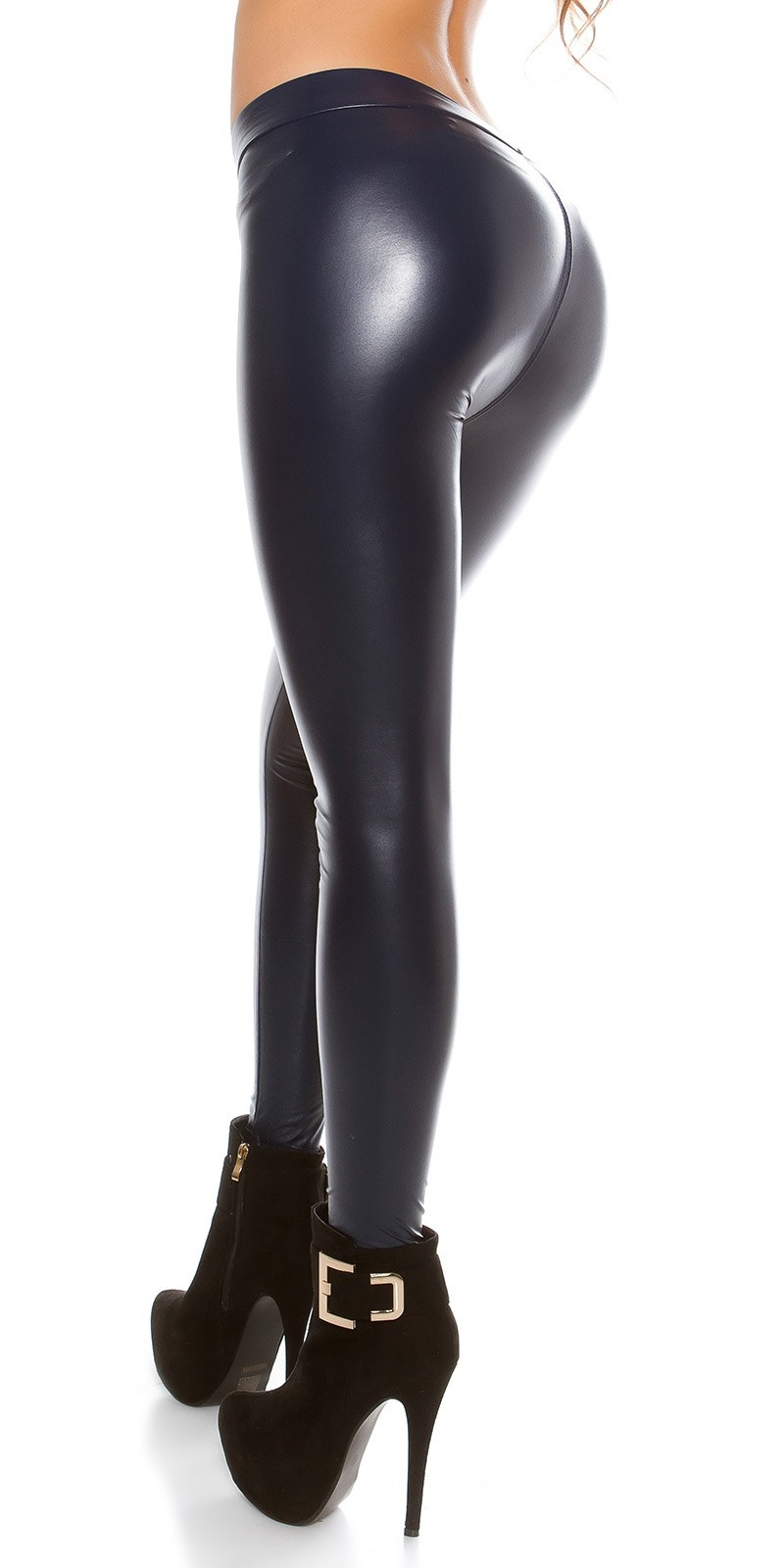 Sexy Thermo Wetlook Leggings Navy