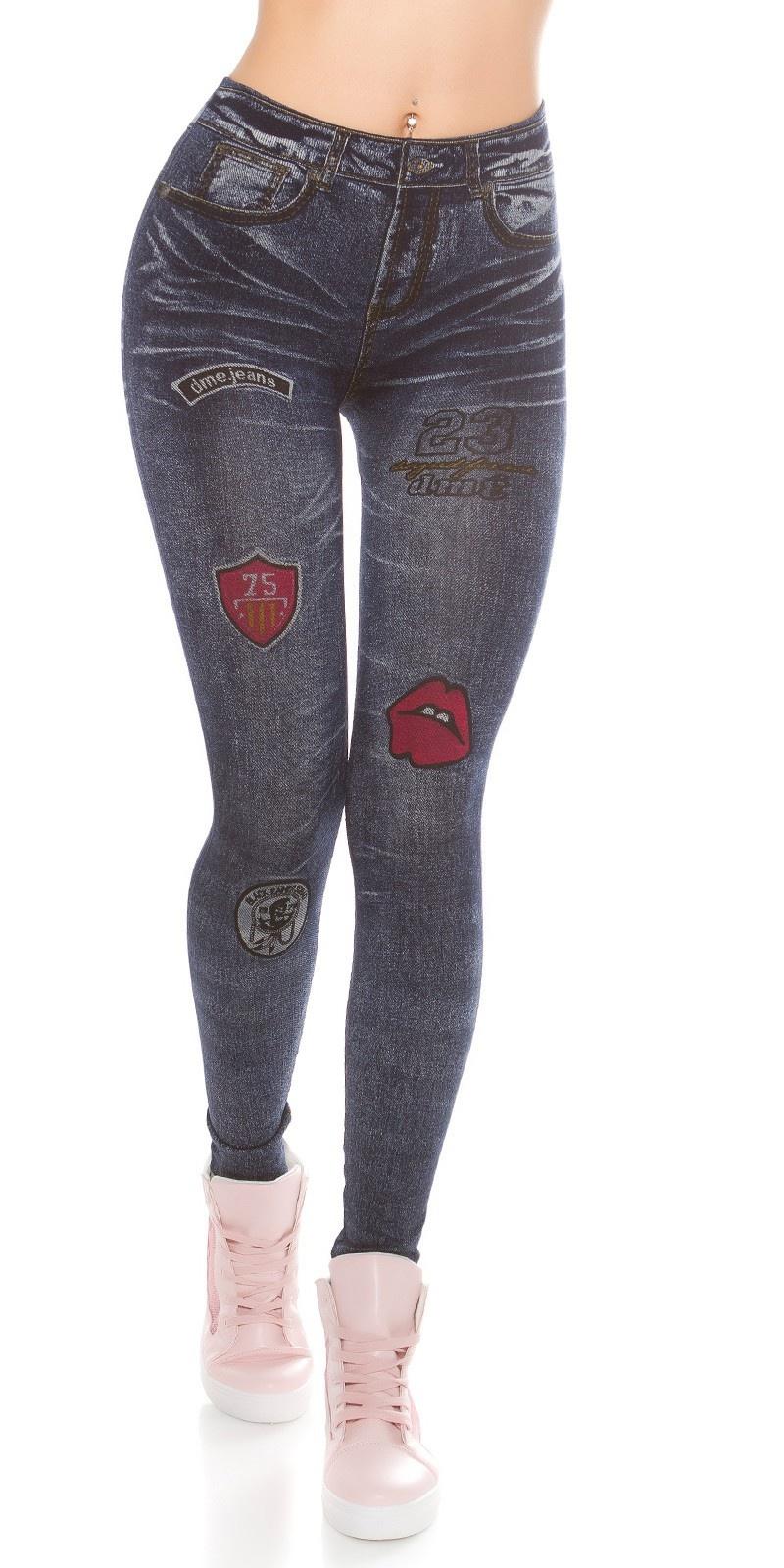 Trendy jeanslook leggins Lightblue