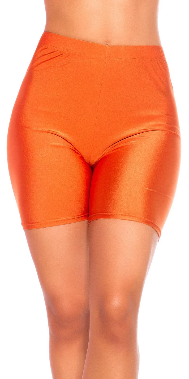 Sexy shiny bikershorts kim style oranje
