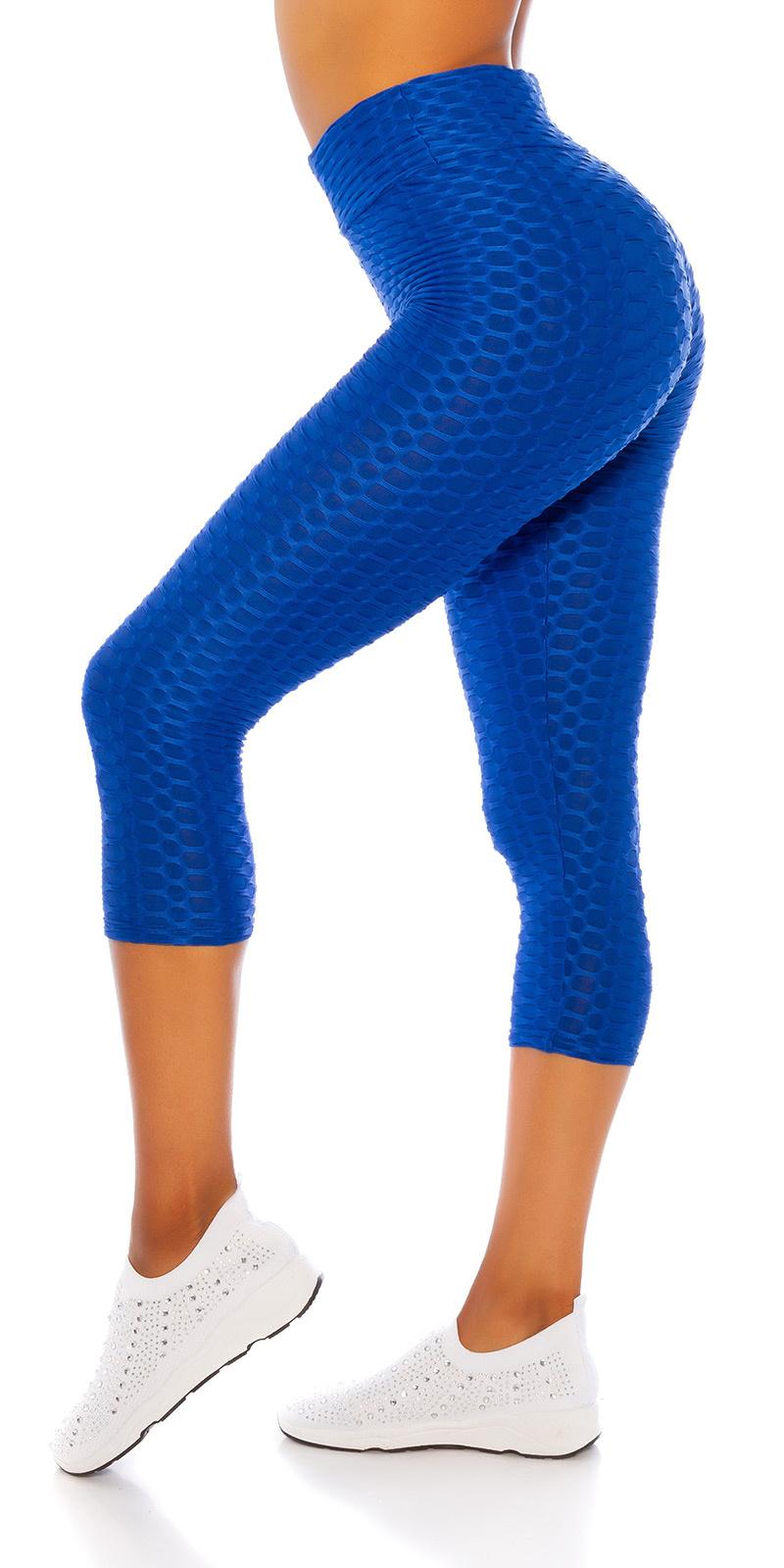 Sexy hoge taille 7/8 leggings blauw