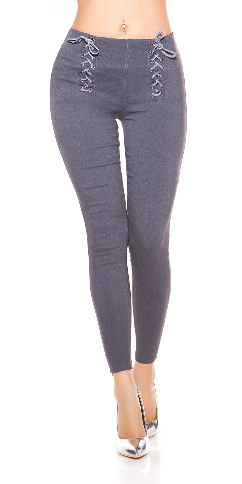 Sexy Leggings with Lacing Anthracite