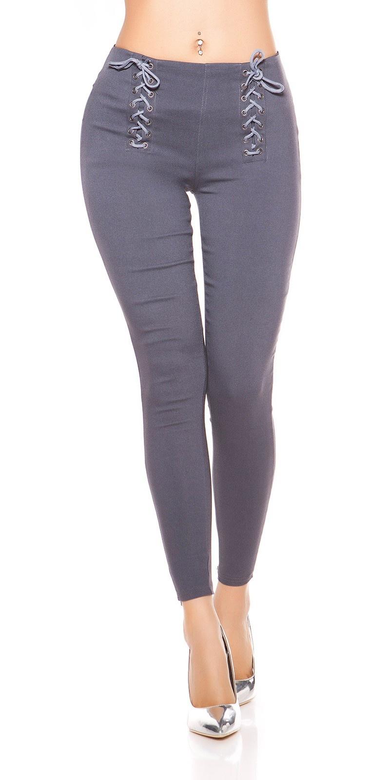 Sexy leggings met veter antraciet