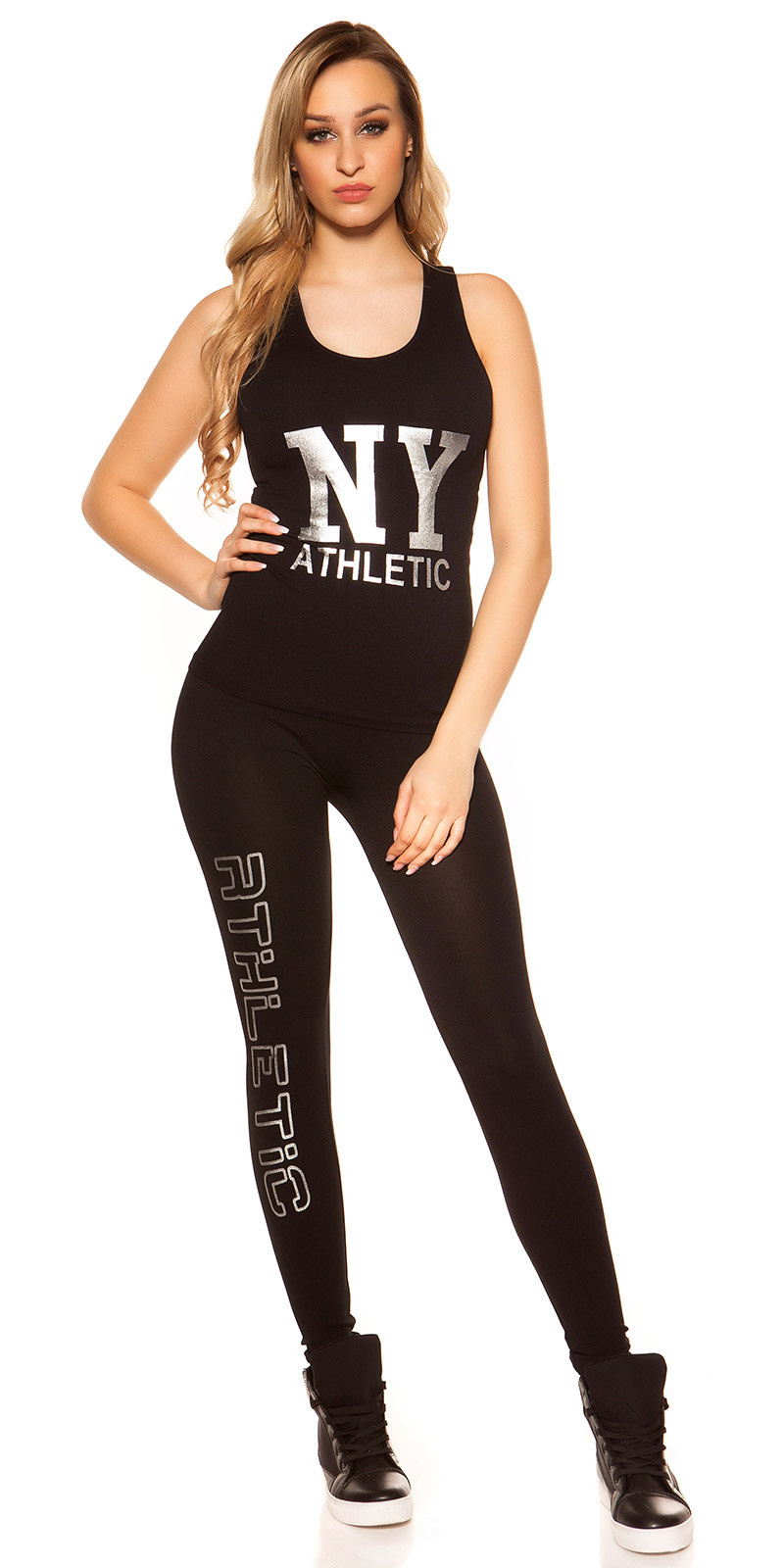 Trendy Workout Outfit NY ATHLETIC Silver