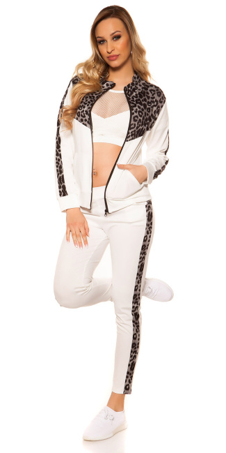 Trendy Jogging, Jogger & Jacket White