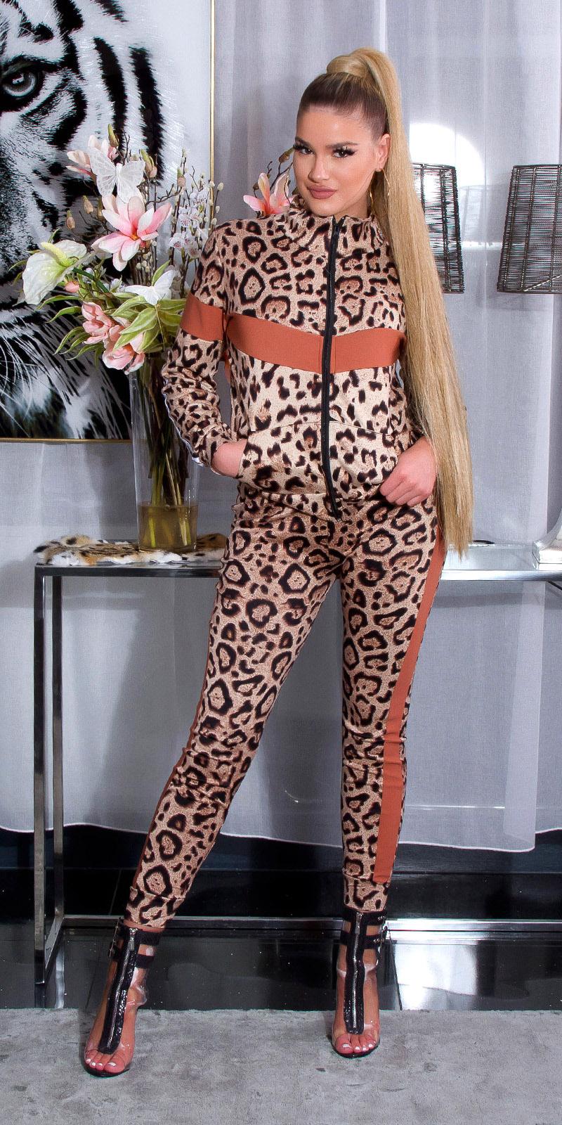 Trendy nici fitness suite luipaard bruin
