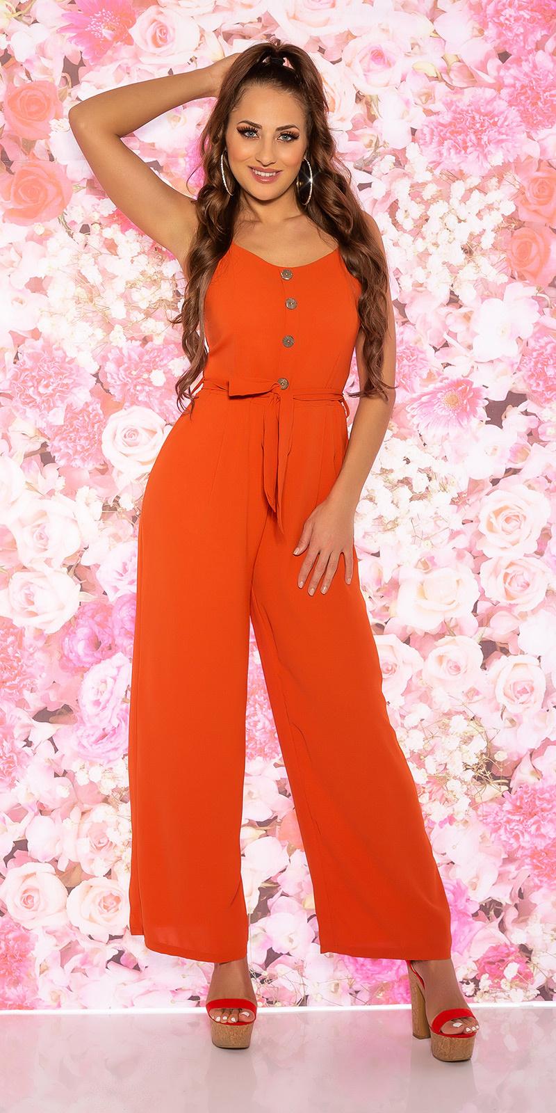 Trendy zomer jumpsuit oranje