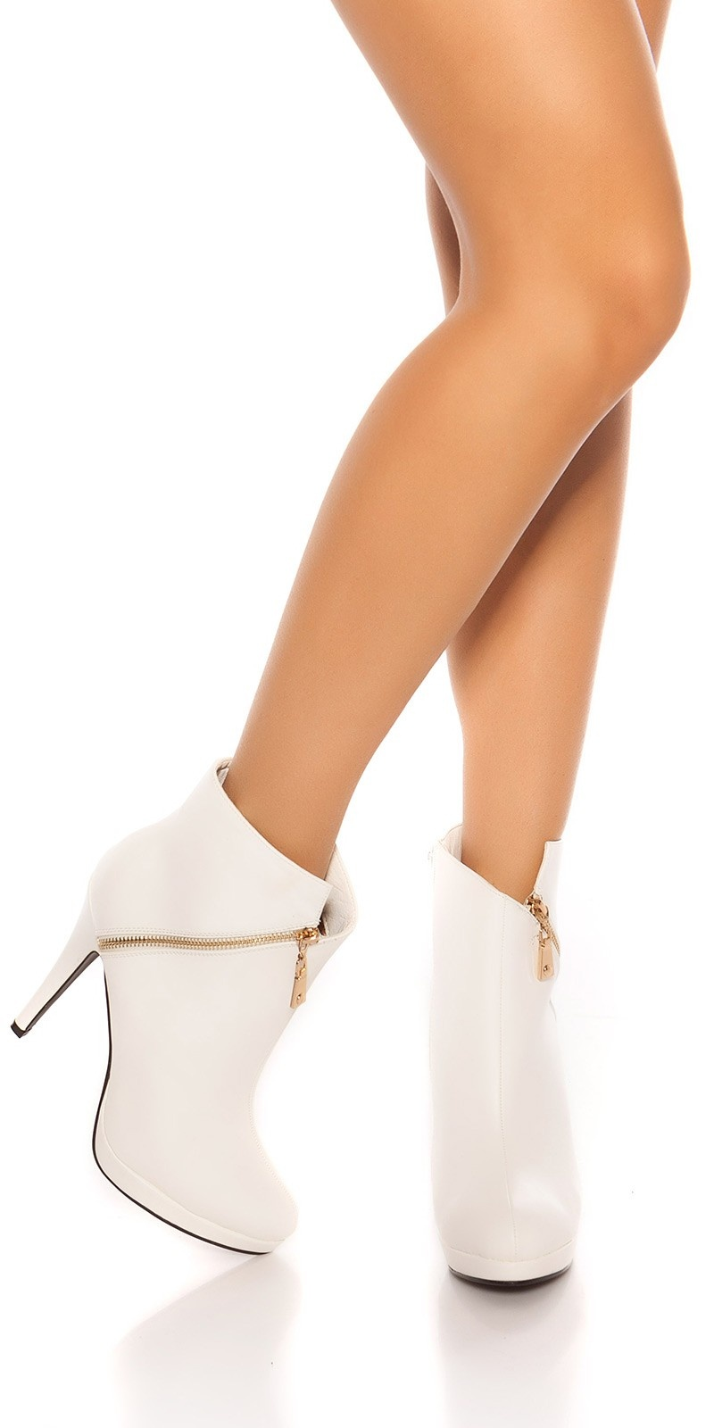Sexy Stilett Ankle Boots White