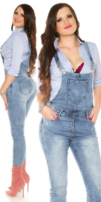 7d02d37b384f0 Curvy Girls Size! Trendy Jeans Dungarees Jeansblue - ai0000GT313-1 ...