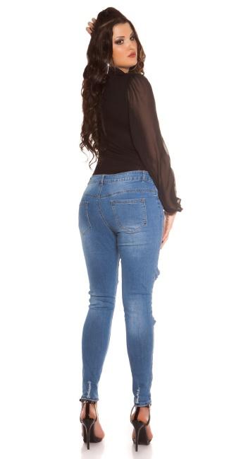 c970610089020 Curvy Girls! Trendy Jeans Used Look w. Net Jeansblue - ai0000GT393-1 ...