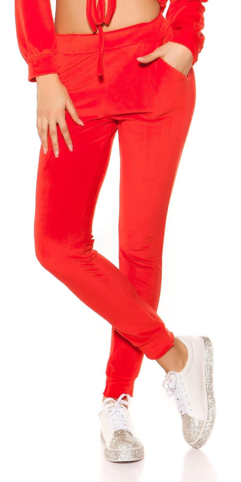 Trendy nicki joggingbroek rood