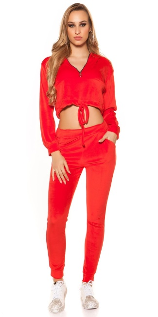 Trendy Nicki Joggers Red