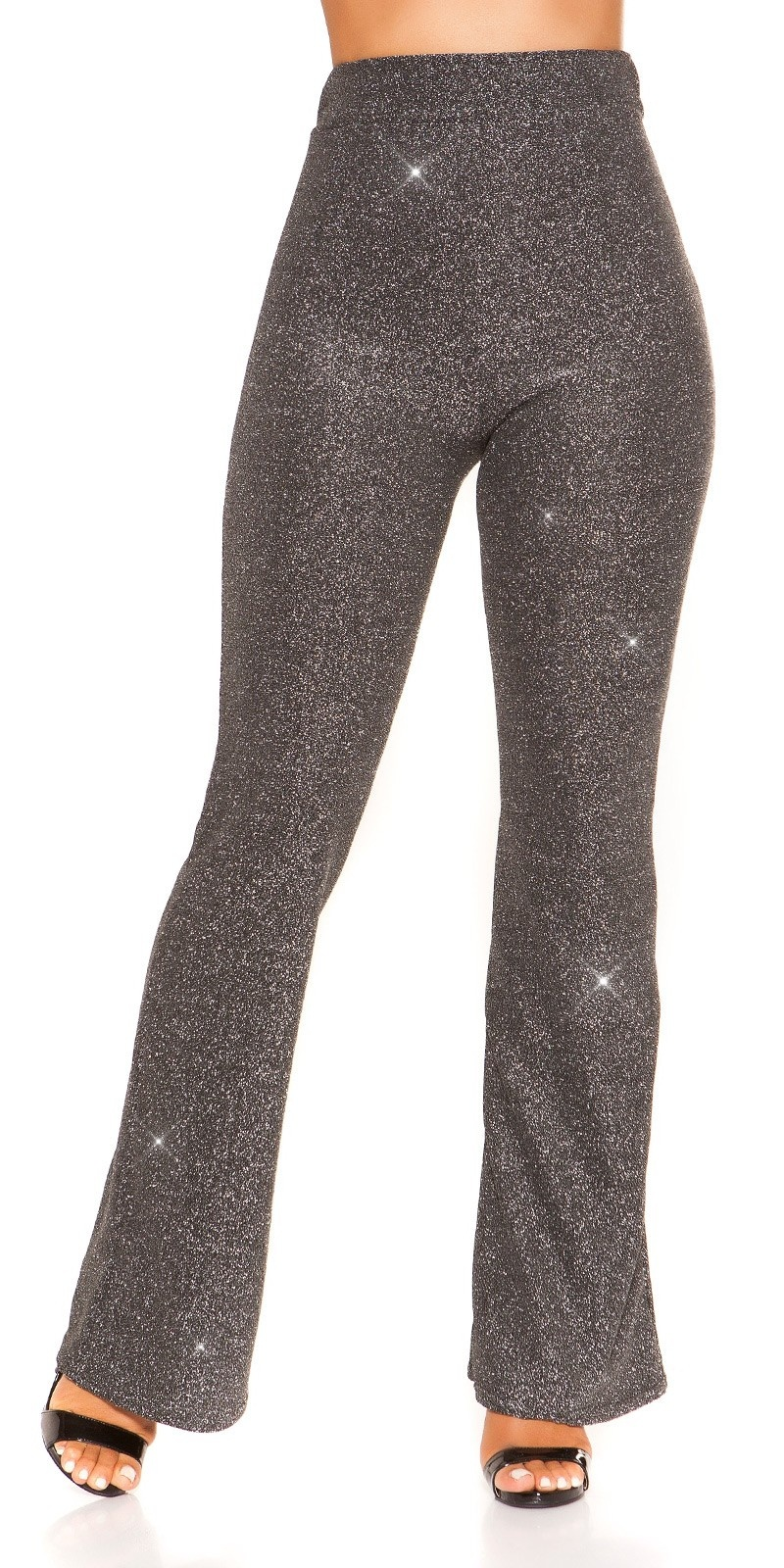 Sexy LeT S PArTY glitter pants Silver