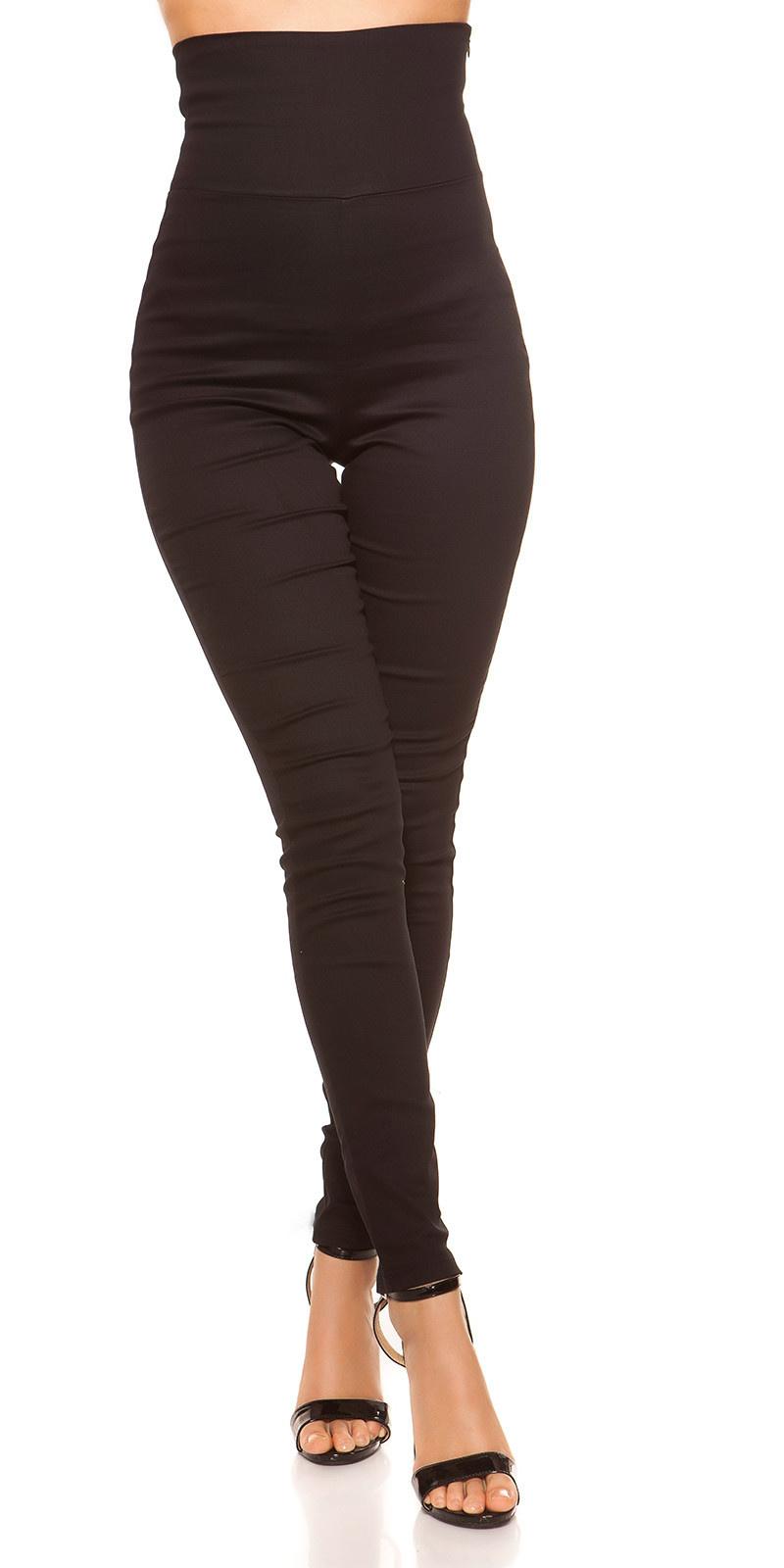 Sexy hoge taille treggings zwart