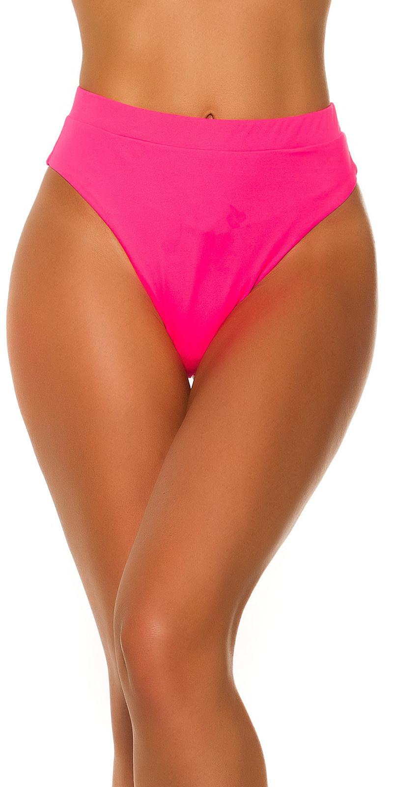 Mix it!!! sexy bikini slip hoge taille neonfuchsiaroze