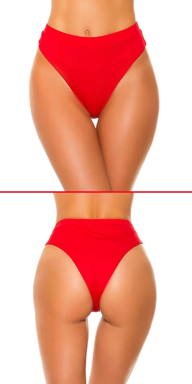 Mix it!!! sexy bikini slip hoge taille rood