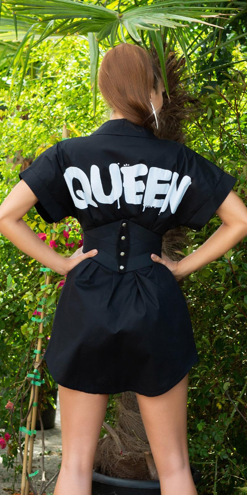 Sexy must have queen shirt jurk zwart