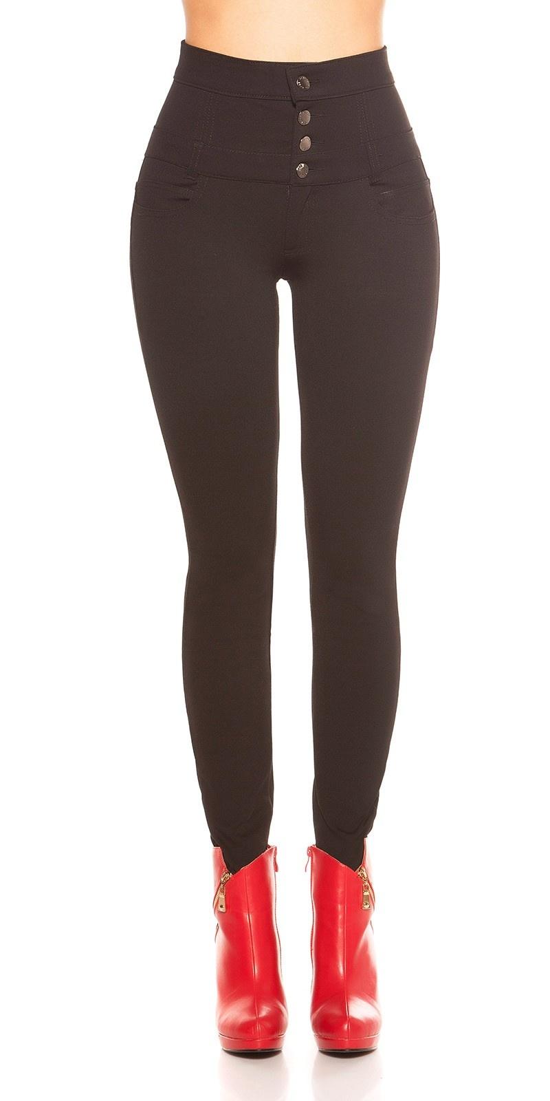 Sexy hoge taille broek zwart