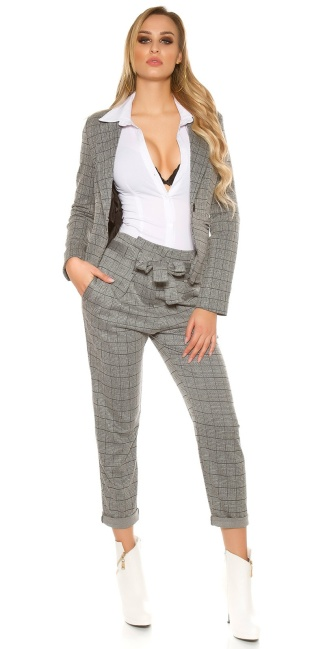 Sexy KouCla Business High Waist Trousers Grey