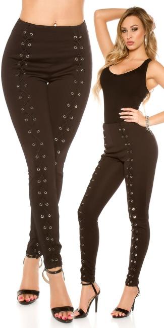 875cd3cbabd849 Sexy KouCla highwaist Treggings with lacing Black - ai0000H9529-1 by ...