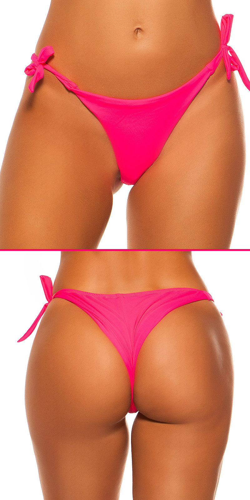 Mix it!!! sexy bikini slip om te binden neonfuchsiaroze