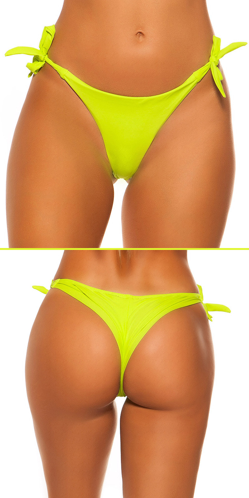 Mix it!!! sexy bikini slip om te binden neongeel
