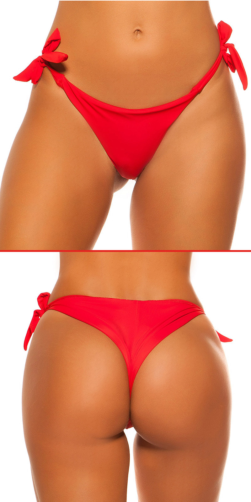 Mix it!!! sexy bikini slip om te binden rood