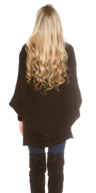 Oversize knitted cardigan Black