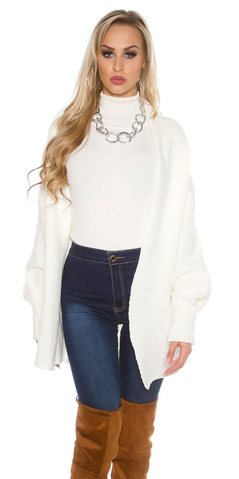 Oversize knitted cardigan Cream