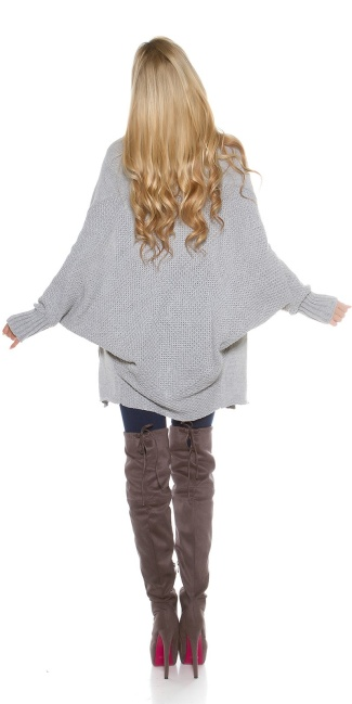Oversize knitted cardigan Grey