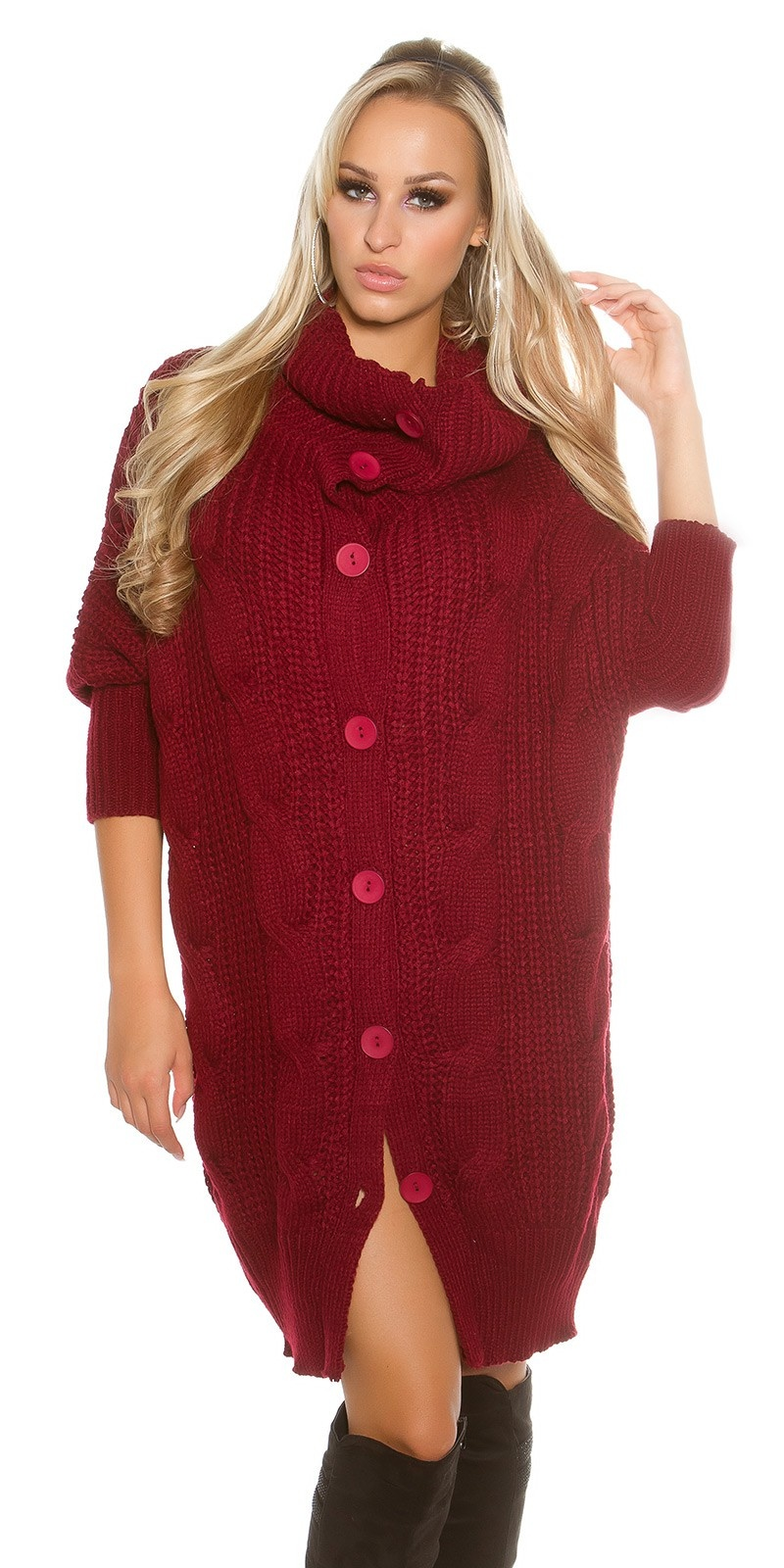 Trendy col xl-cardigan bordeaux