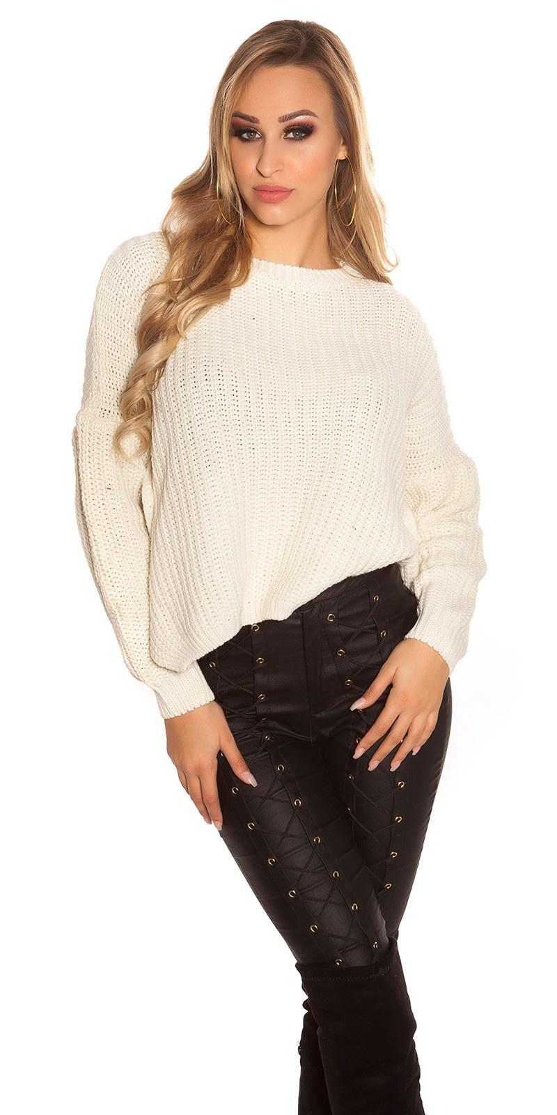 Trendy gebreide sweater-trui beige