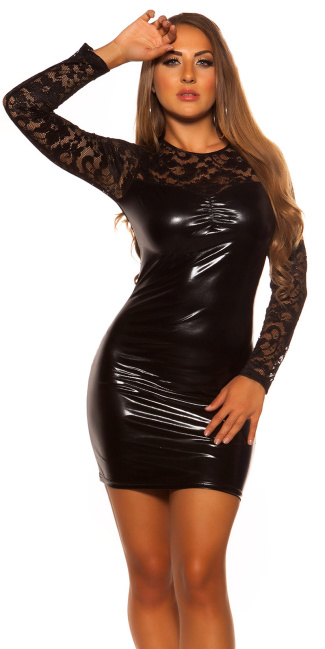 Sexy KouCla GoGo-Minidress with lace Black