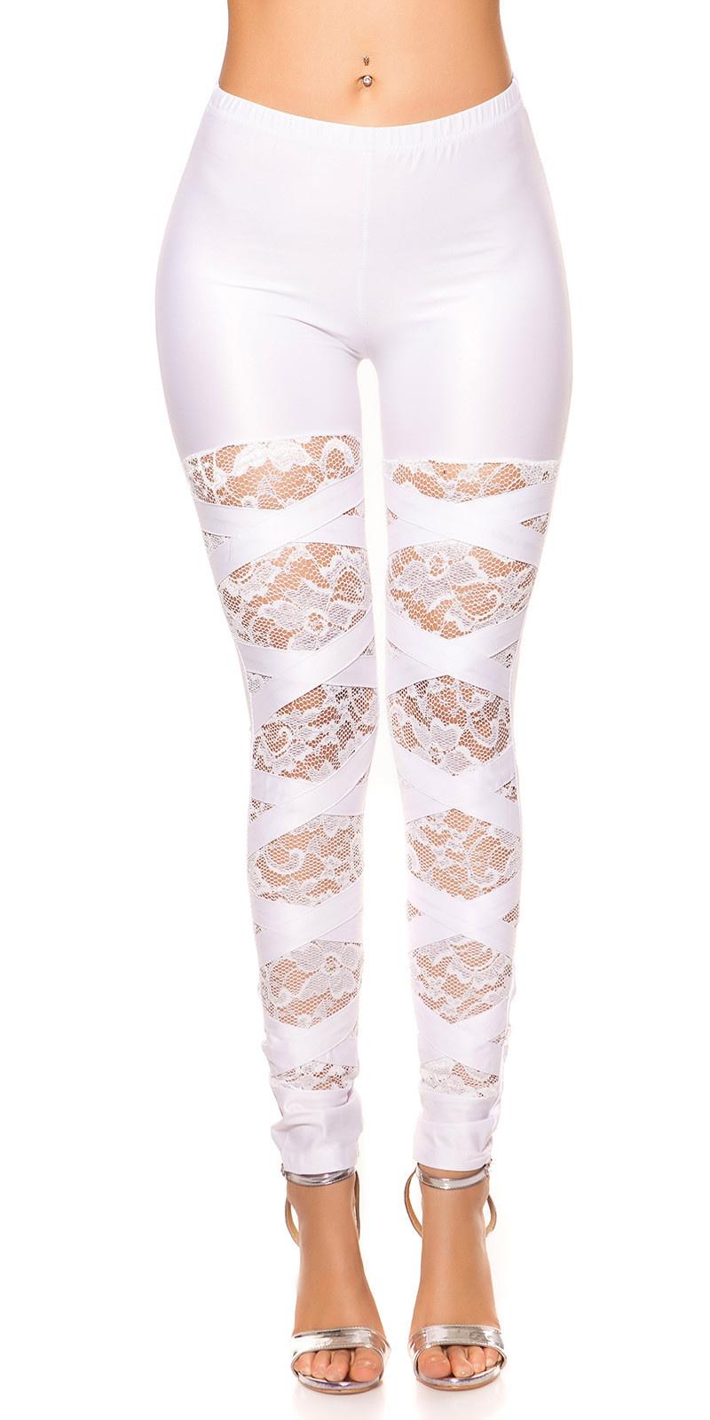 Sexy leggings met kant wit