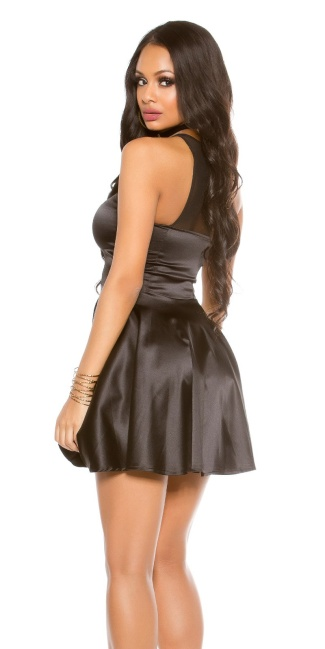 Sexy KouCla minidress with transparent decollete Black ... 0f822116086