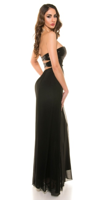 Red Carpet Look! Koucla eveningdres with sequins Black