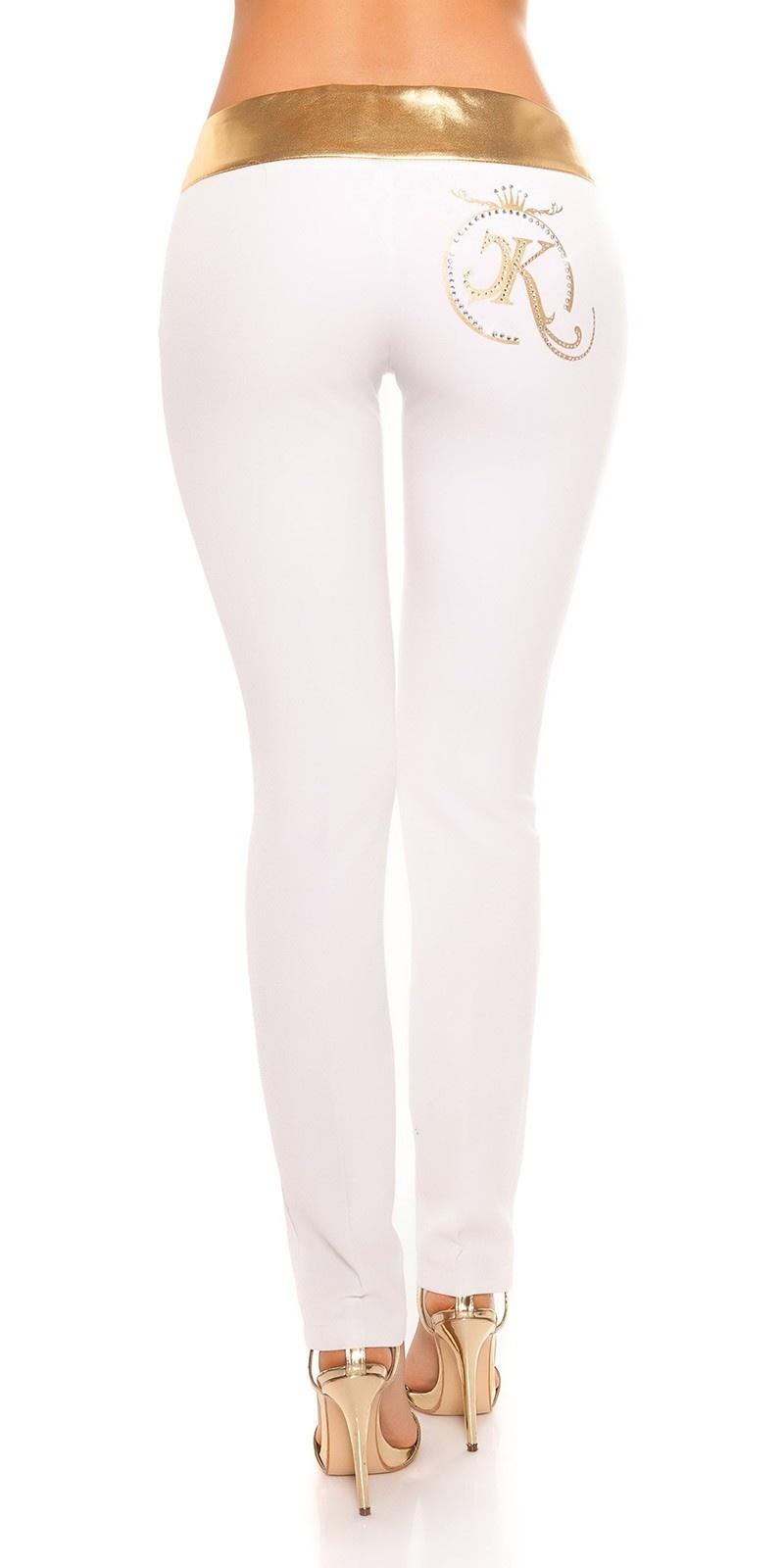 Sexy Skinny KouCla Partypants Whitegold
