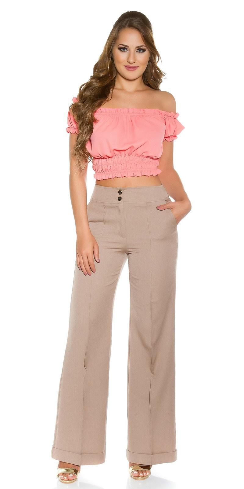 Trendy KouCla Marlene-dress pants Beige