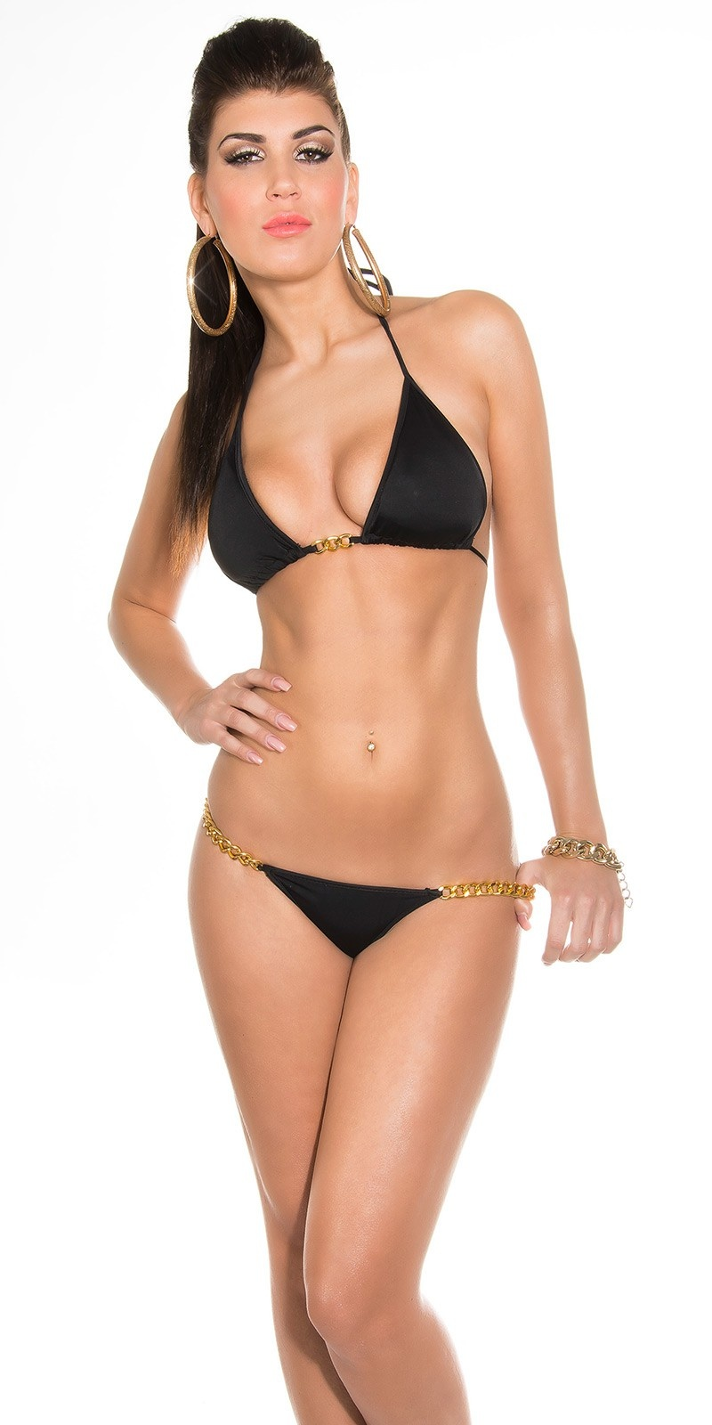 Sexy Bikini with chainstraps Black