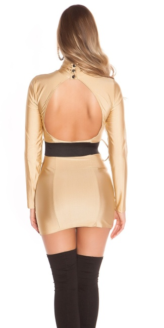 Sexy Minidress backfree with belt Beige