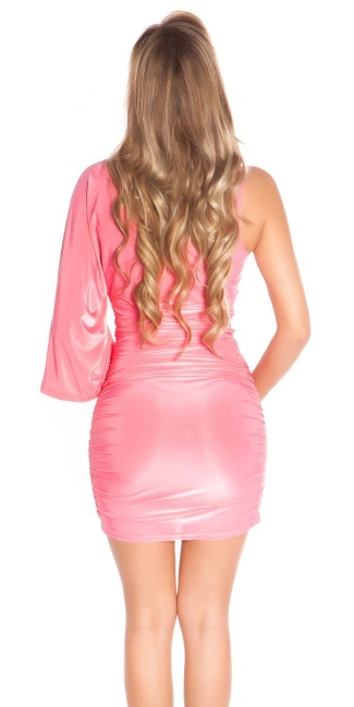 Sexy Minidress in wrap-look Coral