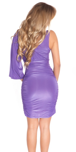 Sexy Minidress in wrap-look Purple